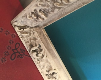 Vintage Painted and Distressed Ornate Frane