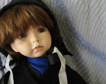 Charming Bisque Doll AMISH MENNONITE Clothing 20in Tall