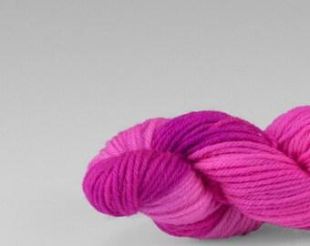 Mini skein, handpainted yarn, Merino and Nylon, Fingering/Sock, Splash, Wild Rose.
