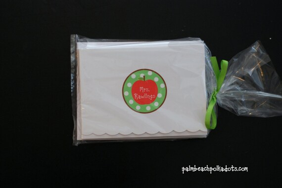 Teacher gifts, Stocking stuffers, personalized gifts, Notecards Stationery by Palm Beach Polkadots