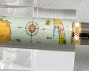 Cape Cod Map Twist Pen