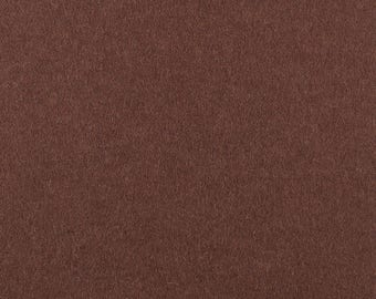 "Dark Brown Solid Tone Designer Wool Felt by the Foot - 100% Wool, 70.9"" Wide, 2mm, 3mm and 5mm Thicknesses Available, Buy More Save More"