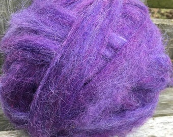 Alpaca Wool Roving, Spinning, Felting, Purple