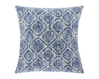 BLUE Pillow Cover.Decorator Pillow Cover.Home Decor.Large Print. Toba Yacht. Cushions. Cushion.Pillow. Premier Prints