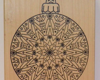 Large Ornament Rubber Stamp