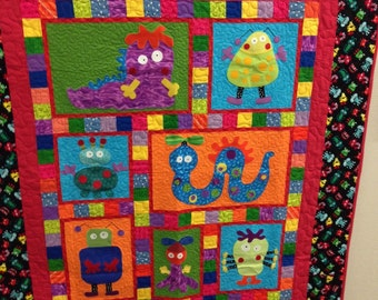 Silly Monsters Quilt