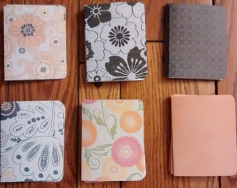 """24 hand-cut note cards on lightweight acid free paper - 4.5 """" by 5.5 """" -  6 different patterns"""
