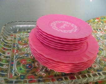 one dozen barbie plates small and large