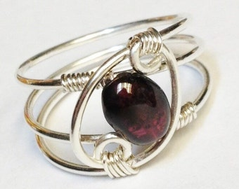 "Shop ""garnet jewelry"" in Rings"