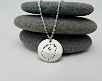 adirondack blue line. sterling silver. adk love necklace. adirondack made. sterling adirondack jewelry. adk charms. adk gift.