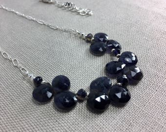 Iolite Necklace in Sterling Silver