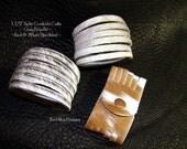 Slit Cowhide Cuffs ~ Split Cowhide Bracelet - Leather Supply Cuffs-  Split Leather Supply -Cowhide Cuff - Leather Jewlery - Cowhide Bracelet