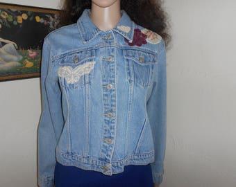 Upcycled Vintage Denim Jacket - Size M/L