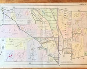 Original 1908 Atlas Map of Villanova Bryn Mawr Lower Merion Radnor Rosemont Mainline