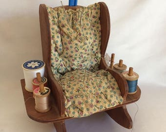 Vintage Rocking Chair Sewing Caddy