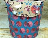Spinner's Flock -Medium Llayover Knitting Tote/Knitting, Spinning, Crochet Project Bag