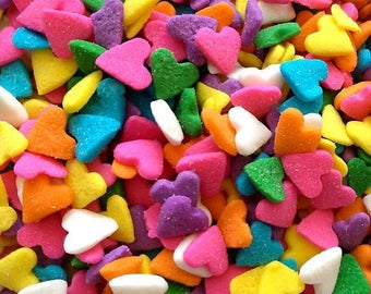 Heart Sprinkles 4oz-Pastel Multi-colored Sequin Quins
