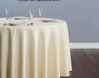 Round linen tablecloth, All colors available,
