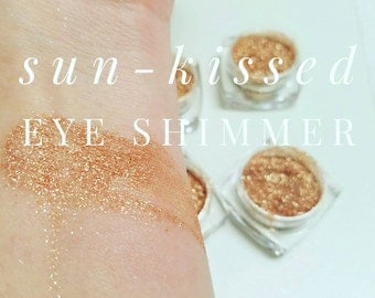 SUNKISSED Mineral Make up EYE SHIMMERS - Vegan Friendly, Sparkly Eye Shadow, Mica Powder 5ml Bronze Sparkle Eye Shimmer - Gift for her