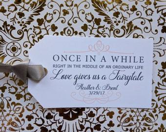 Once In A While, Love Fairytail, Princess Wedding Custom Tags, Cinderella Favor Tag, Favor Tag, Wish Tree Tags Wedding Tags Wishing Tree tag