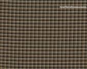 Dunroven House H-3712 Homespun Black Beige & White Mini Plaid Fabric 1/2 Yd Cut