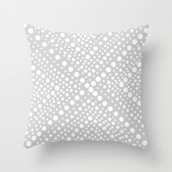 OUTDOOR Throw Pillow - Silver Grey Outdoor Pillow Cover - Modern Geometric Patio Cushion - 16 18 20 inch Gray Throw Pillow Grey Pillow