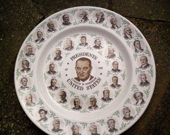 Vintage United States Presidents Commemoritive Plate