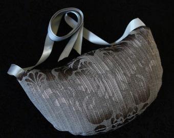 Brown Damask Bustle Pillow