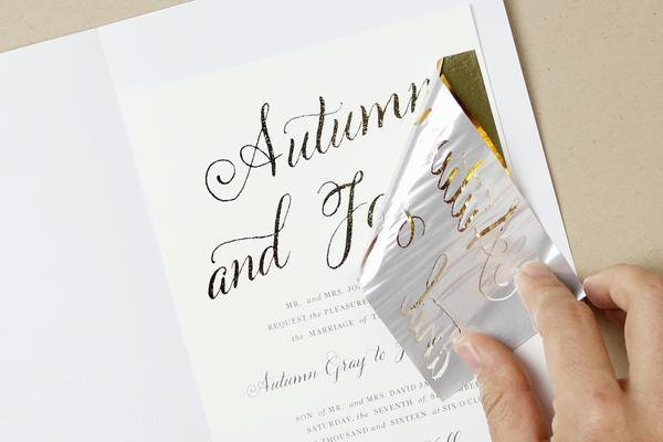 How To DIY Foil Wedding Invitations