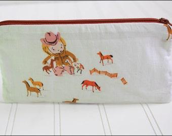 Cowgirl Zipper Pouch