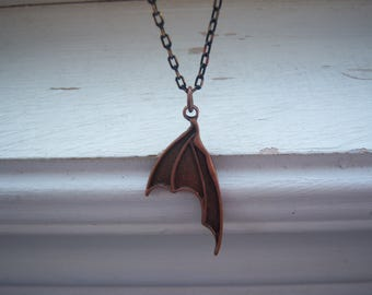 Bat Necklace - Steampunk - Halloween Necklace - Gothic Necklace -Bat Wing Necklace - Wing Necklace - Free Gift With Purchase