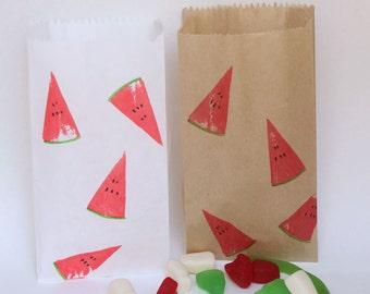 Watermelon Paper Party favour bags. tutti frutti party, Watermelon party, watermelon theme, tropical party, watermelon favours