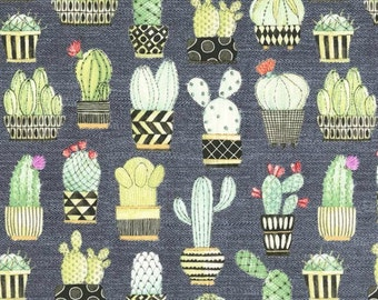 Michael Miller - Lovely Llamas Collection - Cactus Hoedown in Gray