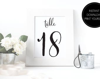 Printable Table Numbers Wedding 1-40, wedding table numbers, instant download, table numbers, table numbers, printable pdf, reception sign