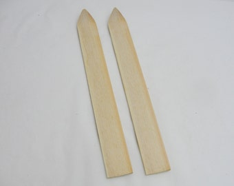 """12"""" wooden skis"""