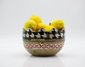 Handmade ceramic bowl - Fruit bowl - Pottery bowl - wedding gift - Serving bowl - Rustic modern bowl
