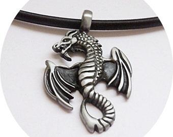 Mens Necklace, Dragon Necklace for Men, Mens Jewelry, Guy Jewelry, Dragon Pendant, Jewelry for Men, Jewelry for Guys, Teen Guy Jewelry