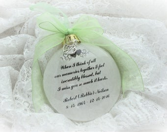 In Memory Ornament, When I Think of All our Memories Together,  Free Personalization and Charm
