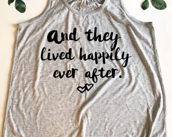 Bride Tank Top - And They Lived Happily Ever After