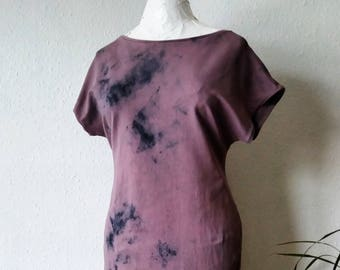 Tshirt dress earthy pink purple summer festival boho gaia natural dyes earthy minimalist tunic hippie organic bohemian gypsy tribal clothing