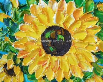 Sunflowers , oil painting, original painting, mothers day