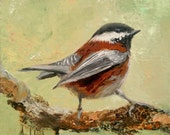 Bird Art, Wall Art, Bird Painting, Animal Art, Aviary Art, 'On the Lookout' by AndolsekArt