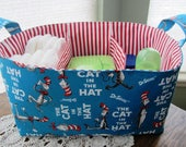 XL Diaper Caddy Organizer Storage basket - Dr Seuss The Cat in The Hat