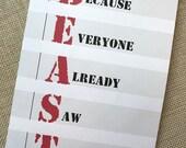 Air Force Card, Basic Training Card, Military Encouragement Card, Beast Week Card, USAF Card, Navy Card, Army Card, Marines Card