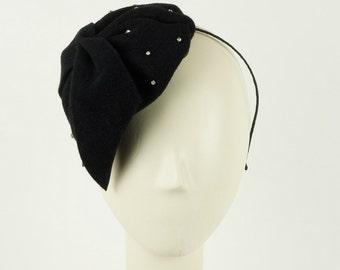 Sparkle Black Fascinator Hat for Women Fascinators Cocktail Hats Wedding Hats Womens Dress Hats  Black Tie Attire  Black Fascinator Hats