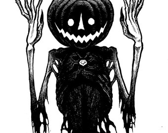The Scarecrow Amulet Original Halloween Drawing