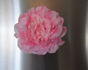 Pink Coffee Filter Peony flower magnet, Refrigerator Magnet,Magnet board