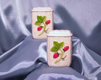 Strawberry Otagiri Japan Salt and Pepper Shaker Set