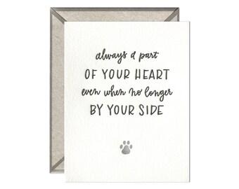 Pet Sympathy letterpress card