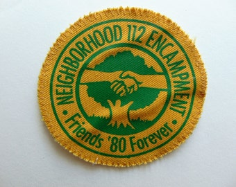Vintage Girl Scout Badge Patch Friends Forever c. 1970s Camping